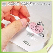 Printing hot stamping silver transparent sticker for cosmetic