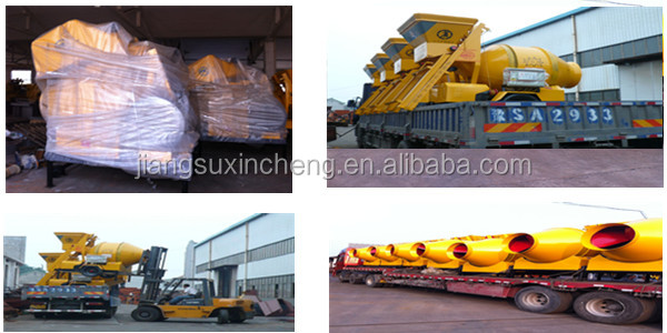 JZC350 Small Portable Concrete Mixer With Pump