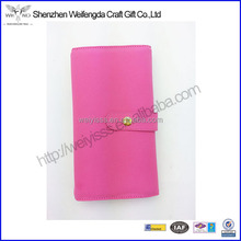 High Quality Custom Popular Pink Fashion Microfiber Travel Jewelry Wallet