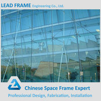 Ventialative EXposed Steel Frame Glass Curtain Wall