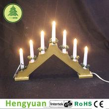 7L BS Golden Wooden LED Christmas Candle Bridge Light Decorations