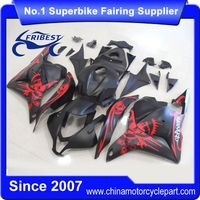 FFKHD010 Motorcycle Fairing Kit For CBR600RR 2009-2012 Matt Black With Red Skull
