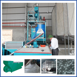 Batch polystyrene balls/beads making machine
