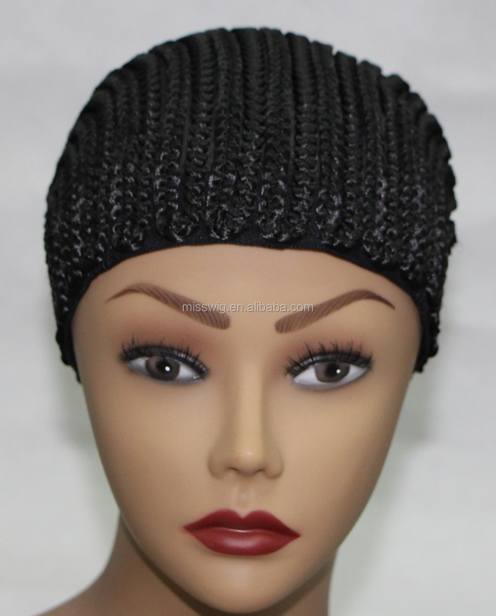 Crochet Braids On A Wig Cap : 16-m Braid Caps For Crochet Braids Express Cornrow Cap For Black ...