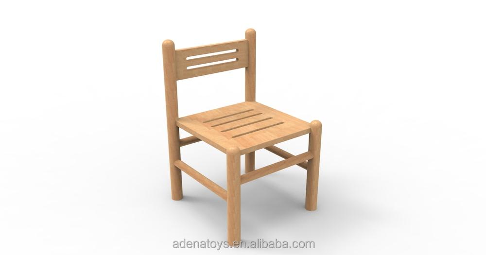kids chair Montessori furniture Rubber wood child