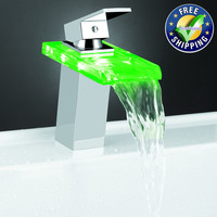 Home Used and 2012 New Fashionable LED Kitchen Glass Faucet