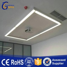 Linkable linear commercial office led pendant light with length 1200/1800/2400mm