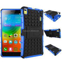 New arrival anti-shock TPU+PC Hybrid Combo Case /cover with Stand for lenovo k3 note wholesale