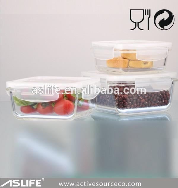 Aszt570 cuisine chaude alimentaire boîte de rangement en verre borosilicate 570ml/19.5oz microwave déjeuner boîte de rangement