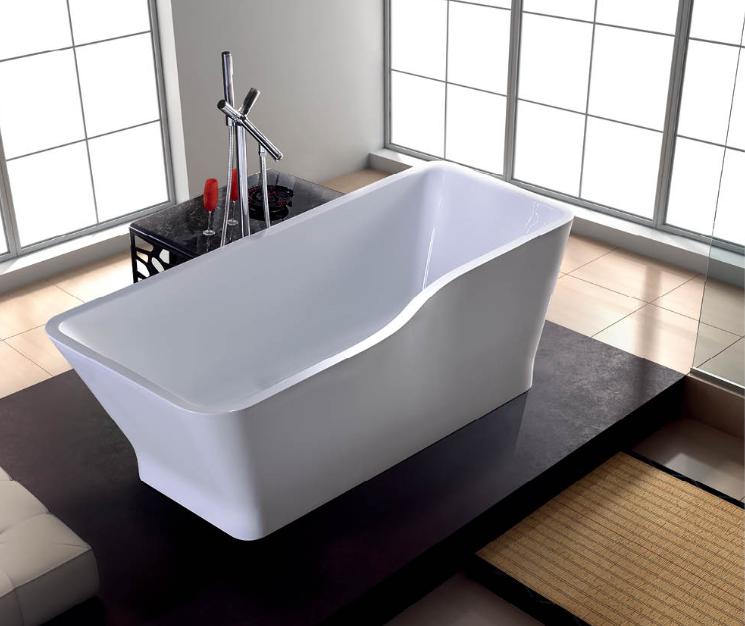 Freestanding bathtub acrylic resin bath tub buy bath tub for Best acrylic bathtub to buy