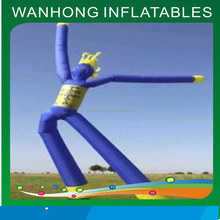 Outdoor advertising product inflatable air dancers, cheap desktop air dancer, two legs human shape air dancers