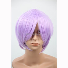 MCW-0142 wholesale cheap Party japanese hot purple cosplay anime wig