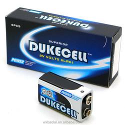 Alkaline 9V Dry Cell Battery 1/s 1.5v Mercury-free batteries