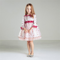 For 2 to 12 Years Old Lovely Girls Party Wear Dress Long Sleeve Elegant Latest Frocks Designs