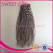 22 inches human hair weave in tangle free Jerry Curl