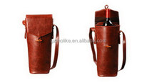 Good quality new products leather wine tote wine bag wine carrier