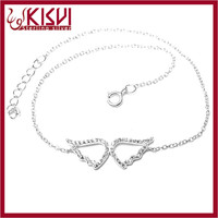 Angel wing bracelet wholesale 2015 China fashion 925 sterling silver jewelry Hot sale 2015 fashion Anklet