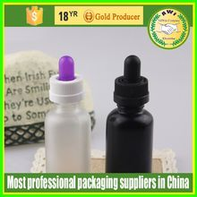 For female e liquid clear/amber/blue glass argan oil bottle orange 30ml with childproof cap for E juice wholesales