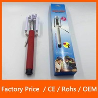 Selfie Stick Universal Cable Build-in Shutter Remote For iPhone Android