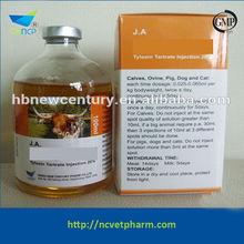 Hot Sale 2015 Tylosin Tartrate Antibiotics Injection 20%