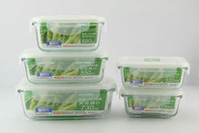 rectangle 730ml heat resistant glass food storage container