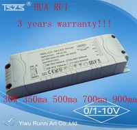constant current 30w led driver/power suppl with 3500ma 500ma dimming led driver/power supply