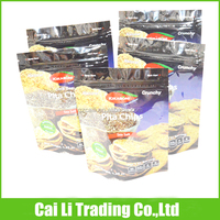 chips packing stand up aluminium press and seal food bags