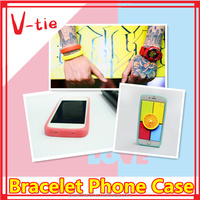 2015 Hot selling new product!! Adjustbale silicone glow in the dark silicone cell phone case