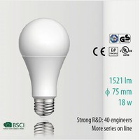 A75 18W 1521lm Aluminum Warm White Gost Lvd Glow light bulb