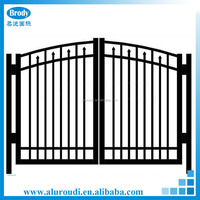 High grade decorative aluminum metal yard gates designs