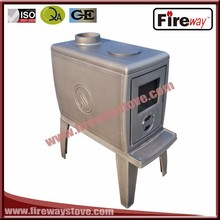 Wood cooking stove type top flue outlet cast iron stove burning