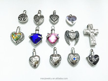 Stainless steel pet animal dog cat keepsake memorials ashes urns my heart shape crystal Cremation pendant Jewelry
