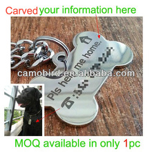 Outdoor Stainless steel Dog Name Tags Pendant Metal Pets Tags Animal ID Tags