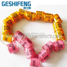 aluminium and plastic,clubs,association,loft printable sticks in,series no., colorful, crown Plastic Pigeon leg Ring,band