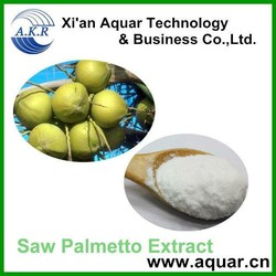 100% pure natural 25% 45% fatty acid from saw palmetto extract