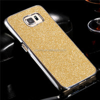 Hot sale sparkly glitter pc case for samsung galaxy s6. shockproof hard pc protector case for samsung galaxy s6 edge
