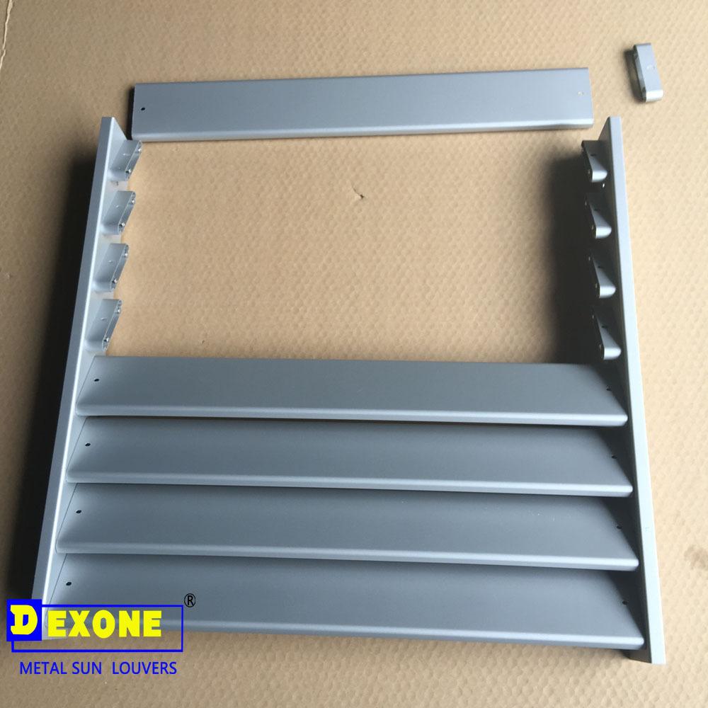 Exterior Aluminum Fabricated Stationary Louvers Buy Fabricated Stationary L