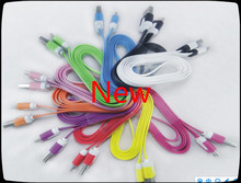 Factory wholesale,color noodle data line ,cable ,General 80% above android smart phones for HTC/samsung/millet mobile phone