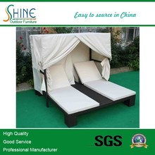 Double/two Seats Rattan Chaise Lounge/Sun lounger/Daybed SOF4008