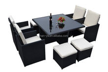 outdoor dining furniture 6 seats veranda table set table and chair set