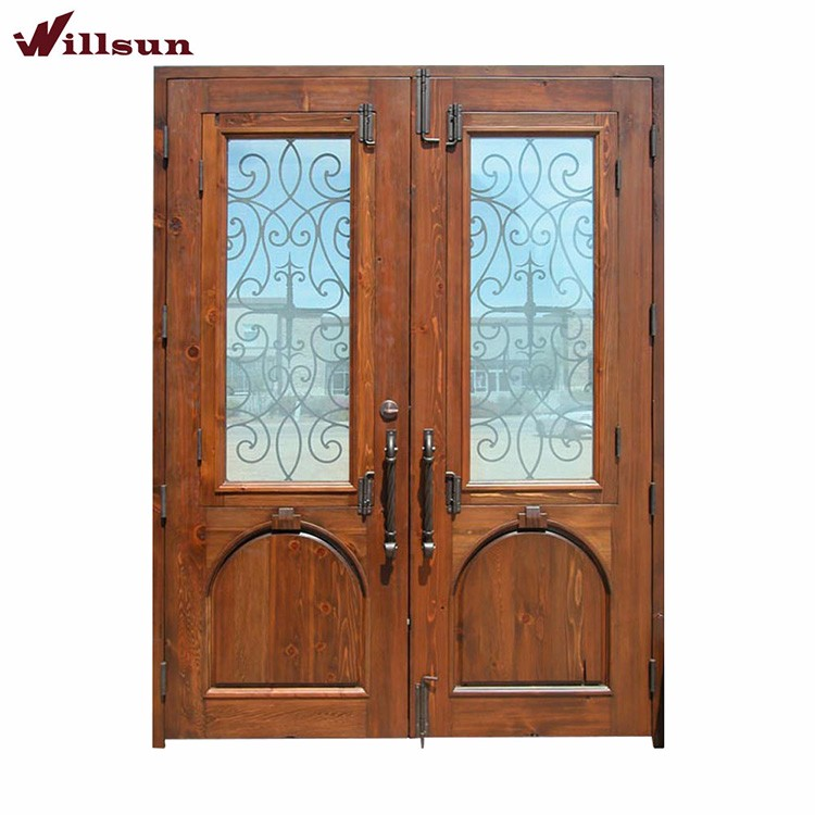 Image Of Wood Glass And Wrought Iron Front Doors Wood And Iron Front