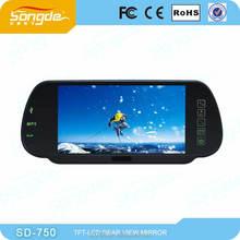 7''inch GPS radar detector DVR Bluetooth car rear view mirror