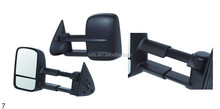 Towing Black Manual Side Mirrors Left Right Pair Set for Chevy GMC Pickup