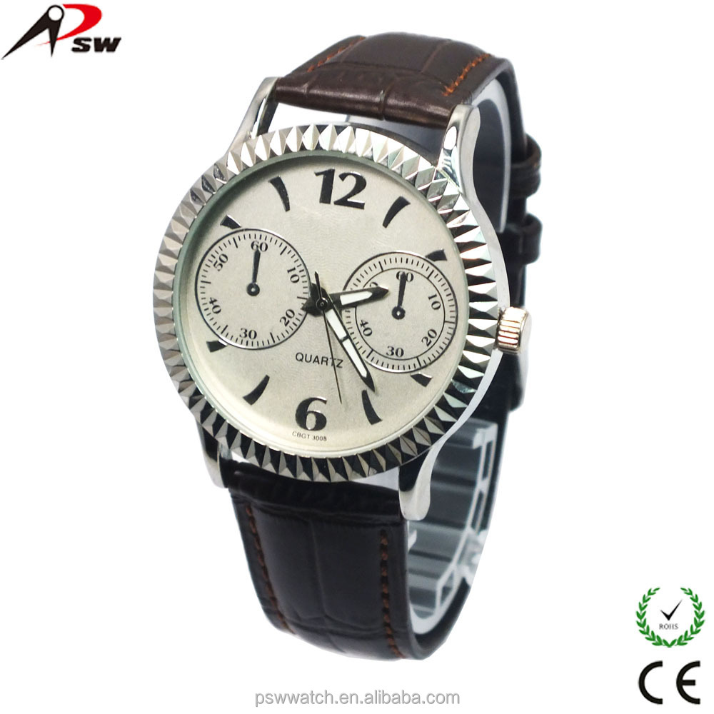 High-grade quartz watch lady day/date wrist watch cheap wrist watch