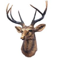 New arrivel plastic sculpture plush full wall animal head hanging
