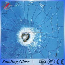 bullet proof safety glass for jewelry store