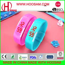 China silicone wristband cheap led watch wholesale