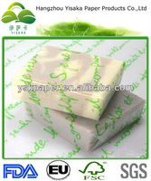 printed FDA certificated wax coated candy wrapper candy paper