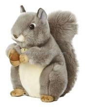 China OEM Custom Mix Style Lifelike Animal Toys Plush Squirrel for Kids