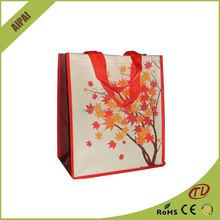Laminated fabric shopping bag pp woven shopping bag
